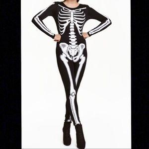 Women's Skeleton Bodysuit Halloween Costume